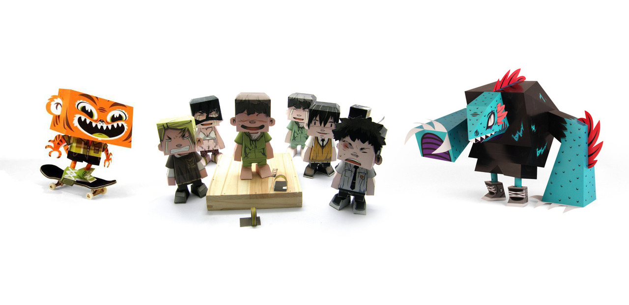 Complex Urban and Pop Culture Paper Toys