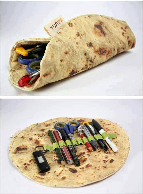 Ashtanur Pita/Tortilla Pencil Case by Mohar Design