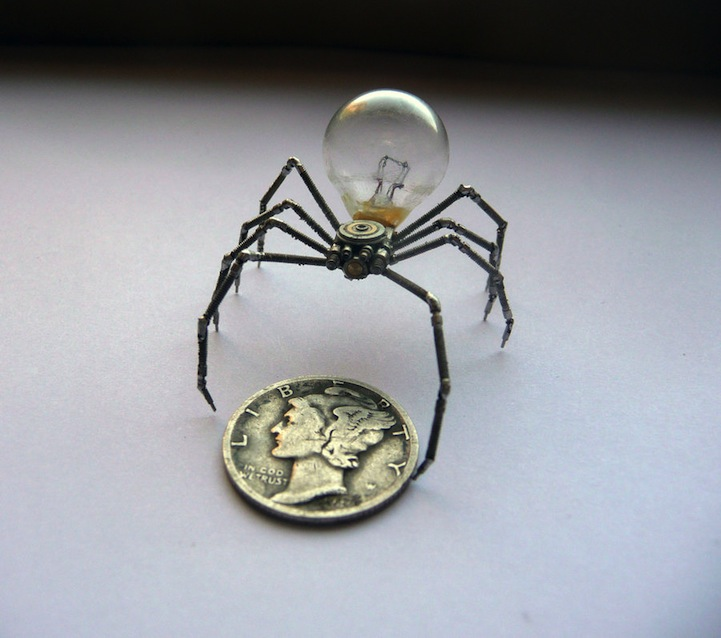 Tiny Mechanical Insects Made of Watch Parts by Justin Gershenson-Gates, aka A Mechanical Mind