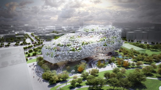Taichung City, Taiwan Cultural Center Competition Entry by RMJM