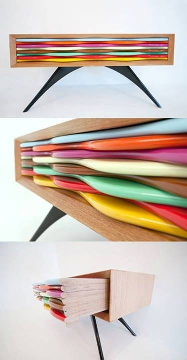Colorful, Wavy Drawers
