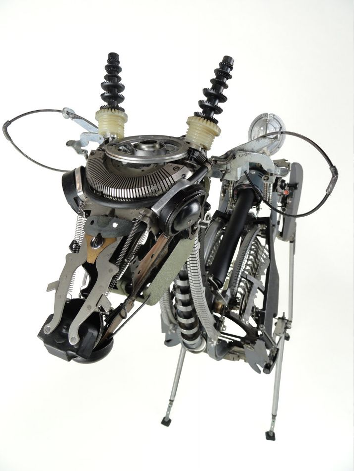 Lifelike Sculptures Built With Old Typewriter Parts by Jere­my Mayer