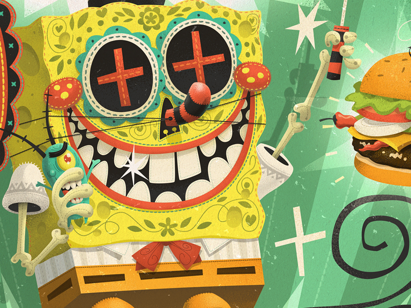 Picante SpongeBob For The Gallery Nucleus Tribute Show by Steve Simpson