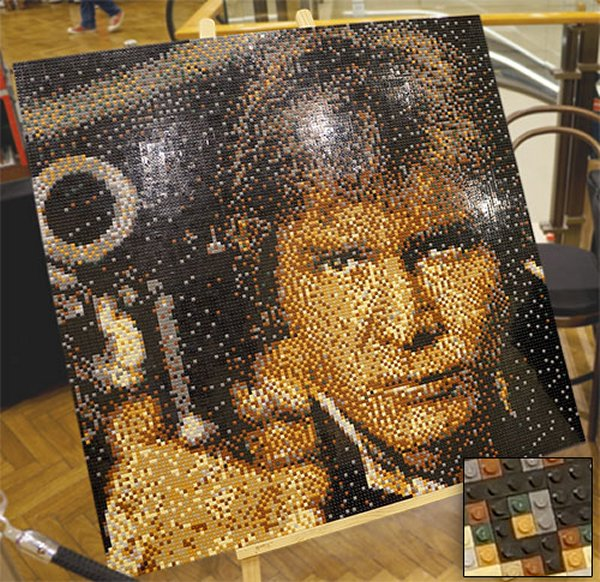 Han Solo LEGO Pixel Art From the Sydney Brick Show