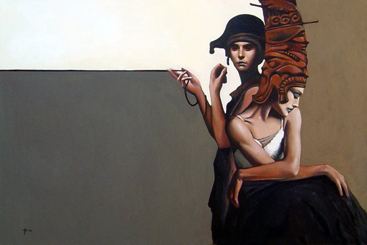 Oil on Canvas (2003) by Raoof Haghighi