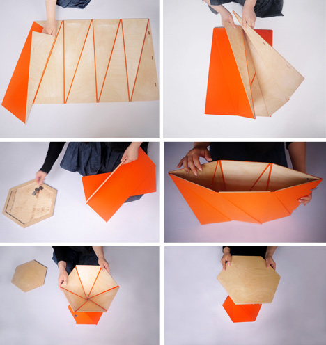 The Playtime Collection of Origami-Inspired Furniture by Zhang & Thonsgaard