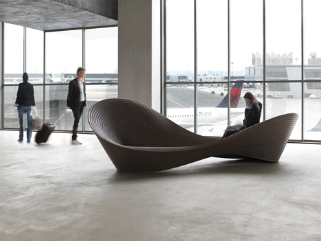 """""""Folly,"""" Wavy Plastic Bench by Ron Arad for Magis"""