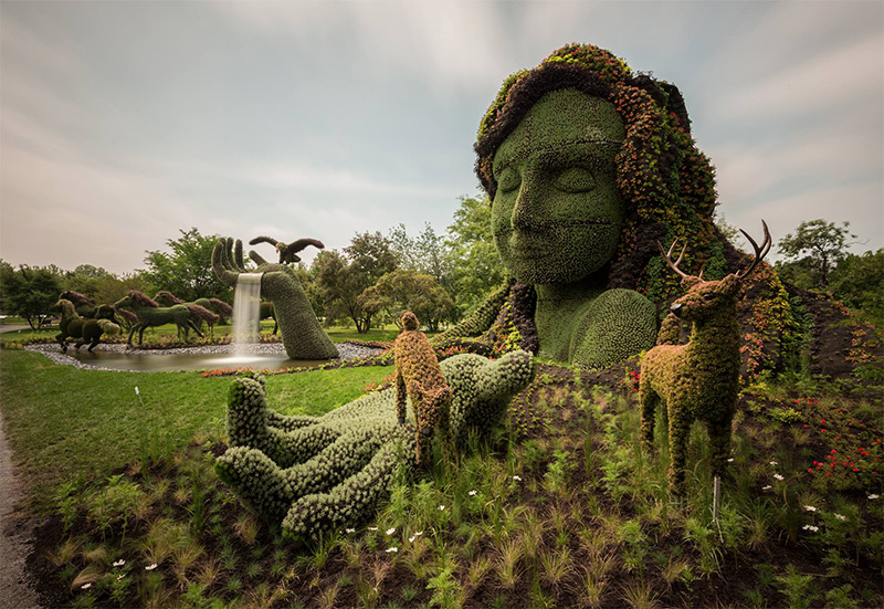 Plant Sculptures at Mosaïcultures Internationales de Montréal