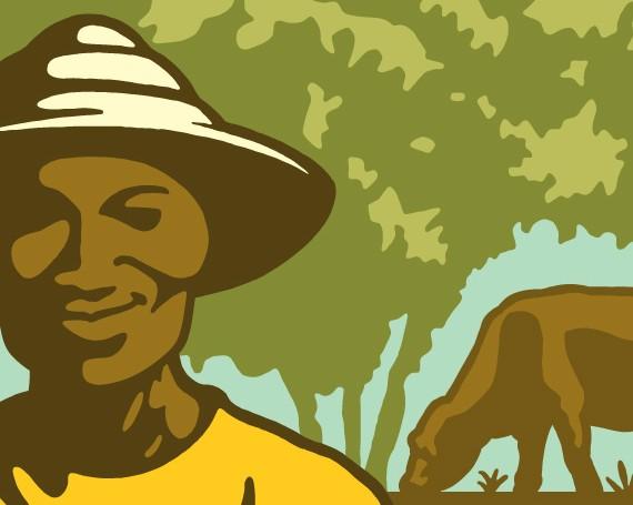 Ferme Agro-Pastorale Illustration