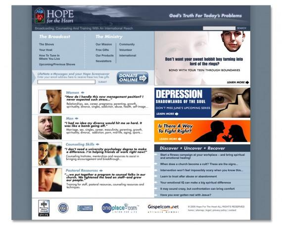 Hope For The Heart Website