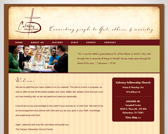 Calvary Fellowship Church Website