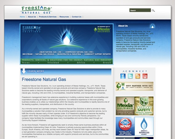 Freestone Natural Gas Solutions Website