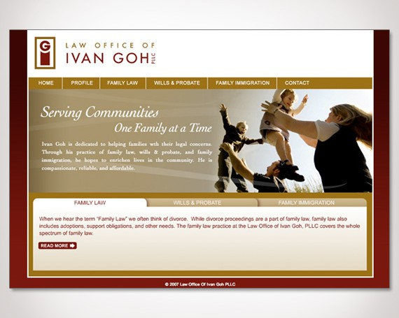 Law Offices of Ivan Goh Website