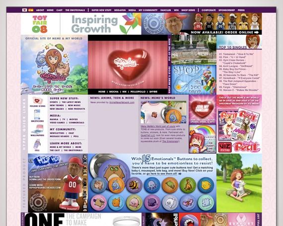 MeMe And My World Website