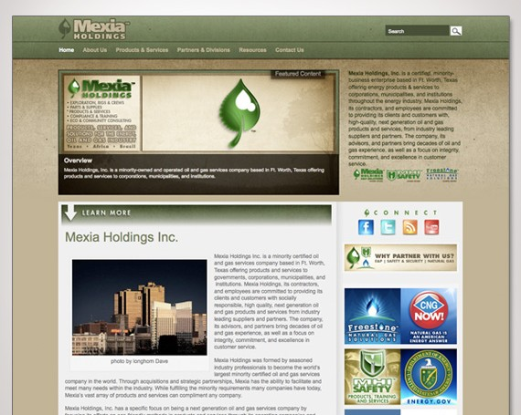 Mexia Holdings Website