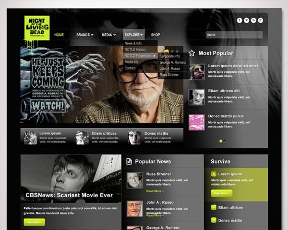 Night of the Living Dead Website