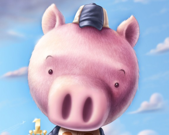 When Piggies Hit Fly Balls