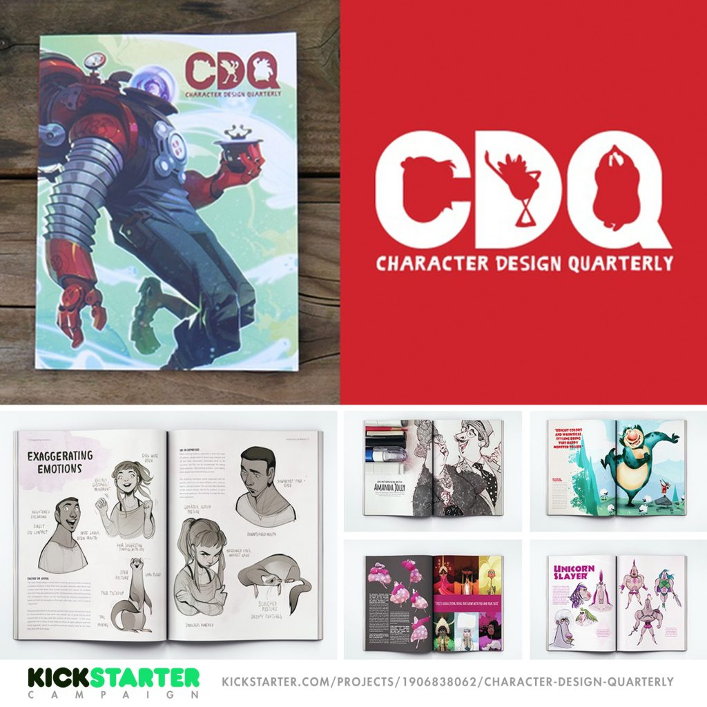 Quietyell Character Design Quarterly Magazine Kickstarter By