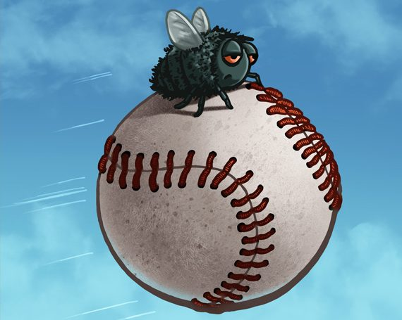 Fly Ball (Yes, It Was Drawn; It Was Said)