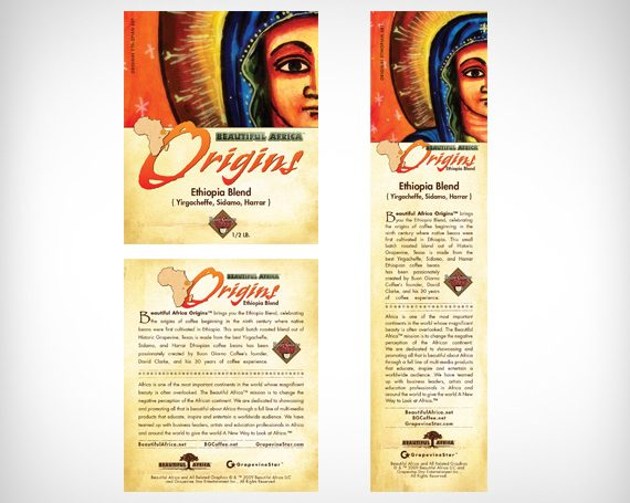 Beautiful Africa Coffee (Labels)