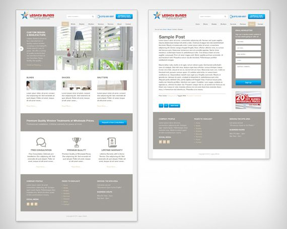 Legacy Blinds Website