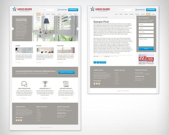 Legacy Blinds Website