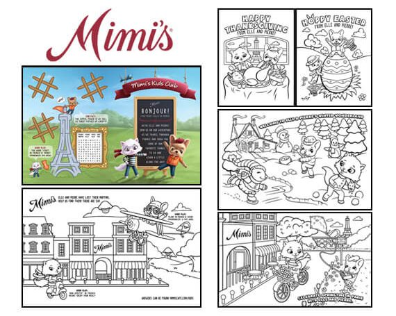 Mimi's Cafe Activity Sheets