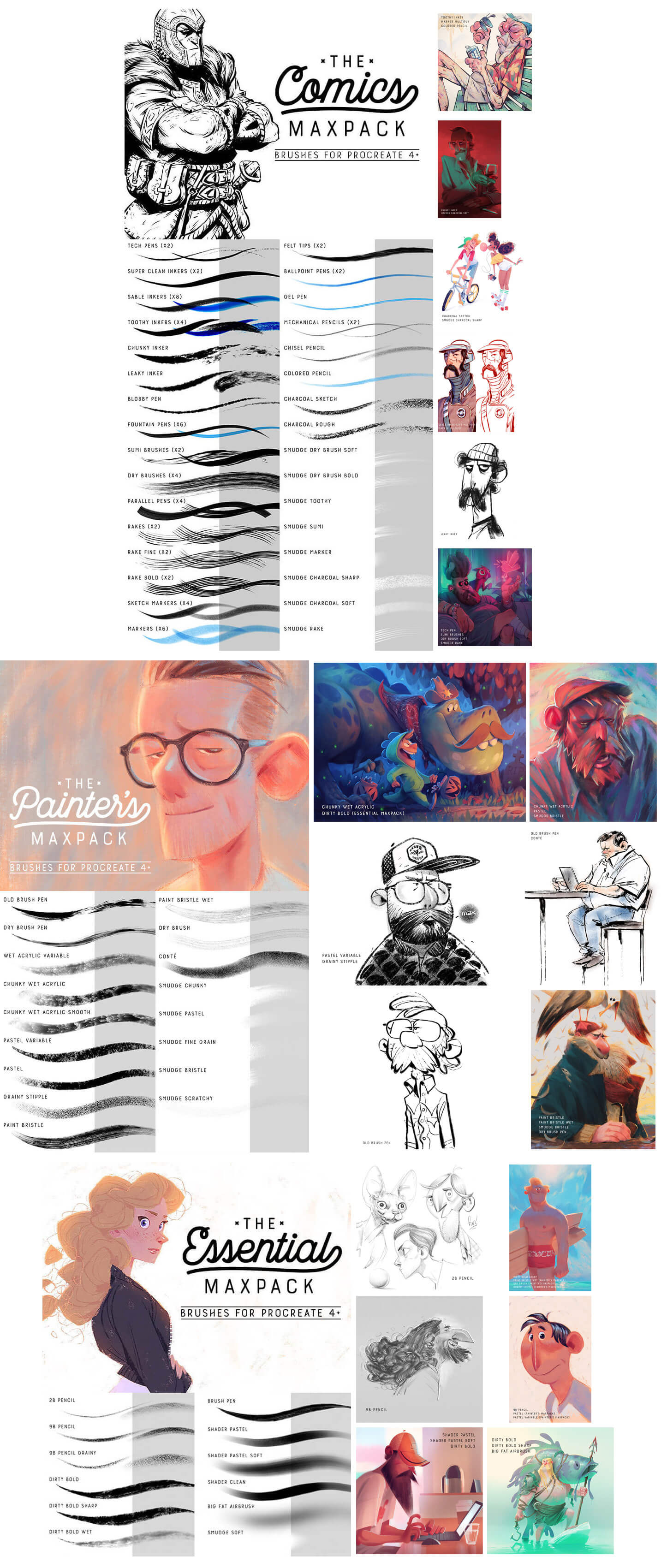 Max Ulichney MaxPack Brushes For Procreate