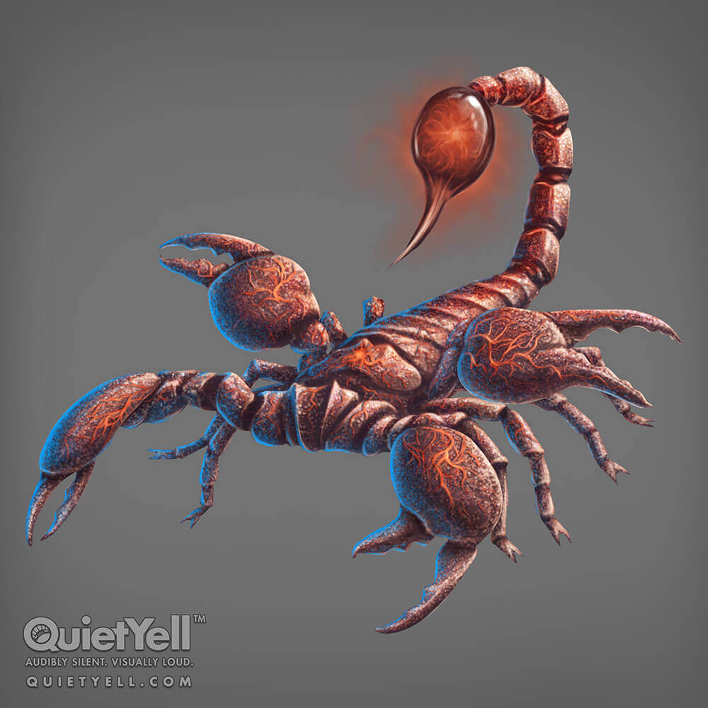 QuietYell Presents Scott Monaco's Space Cowboy Game Assets For Cataboom : Alien Scorpion, All Rights Reserved | QuietYell.com and CataBoom.com