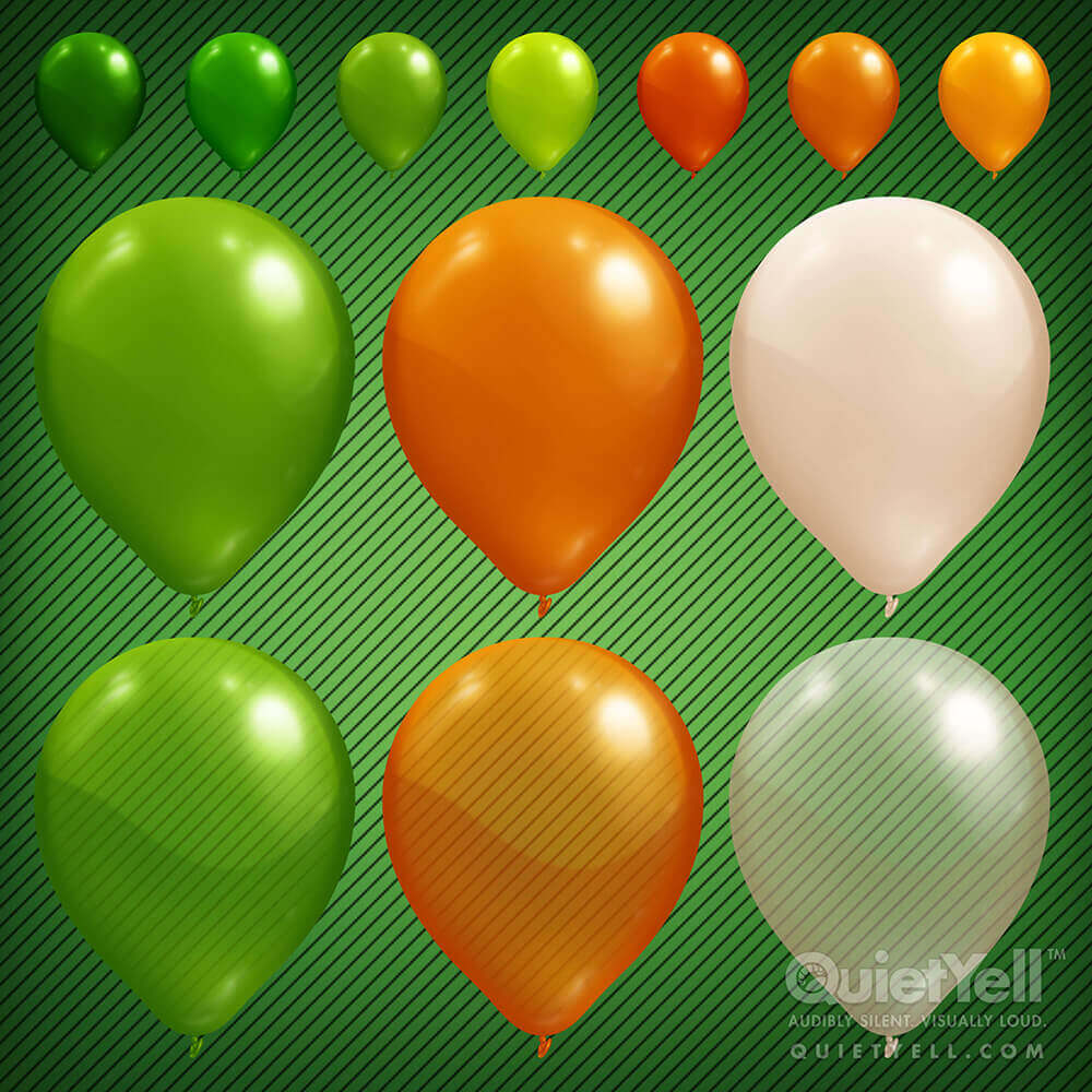 QuietYell Presents Scott Monaco's St. Patrick's Day (Balloons) Game Assets For Cataboom, All Rights Reserved