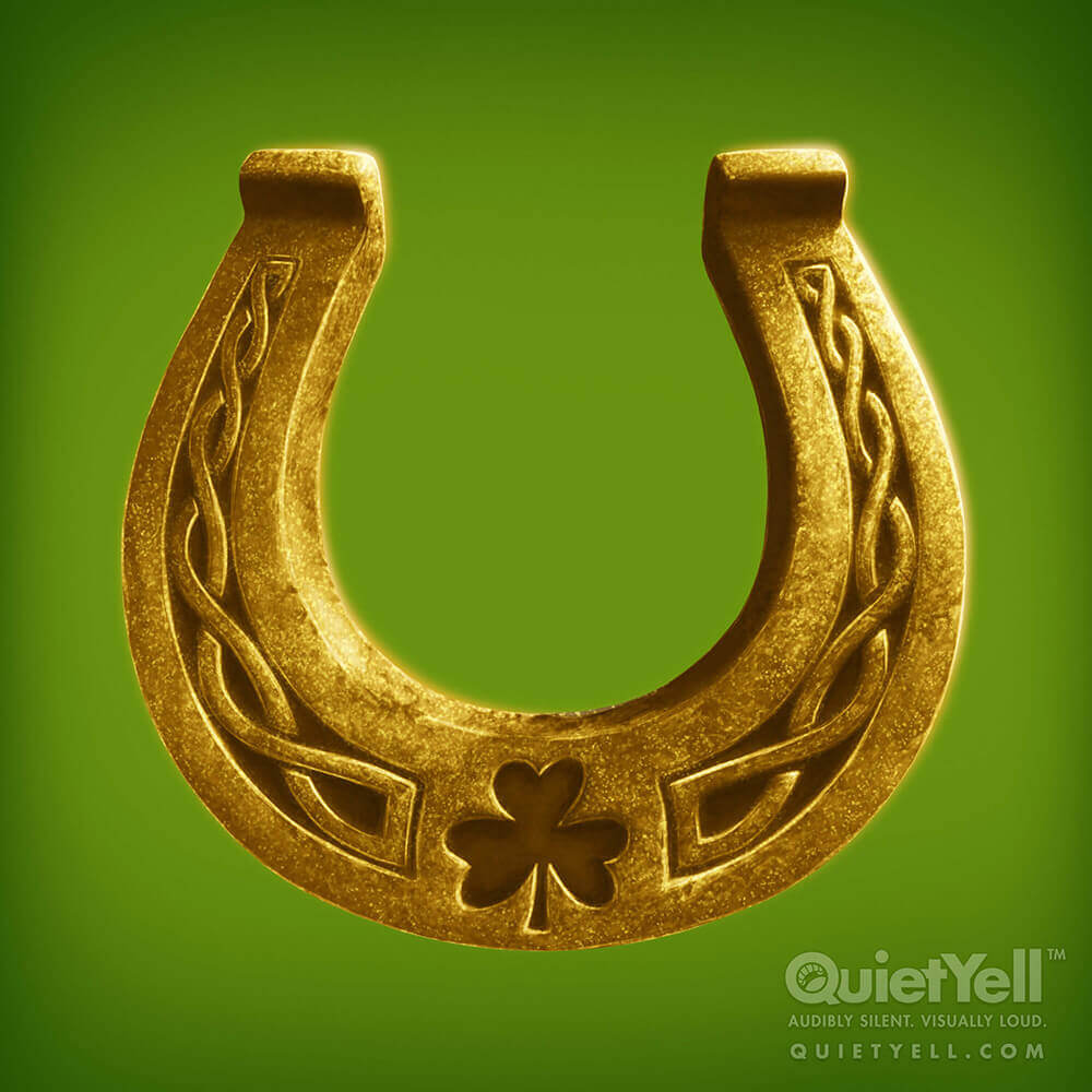 QuietYell Presents Scott Monaco's St. Patrick's Day (Horseshoe) Game Assets For Cataboom, All Rights Reserved