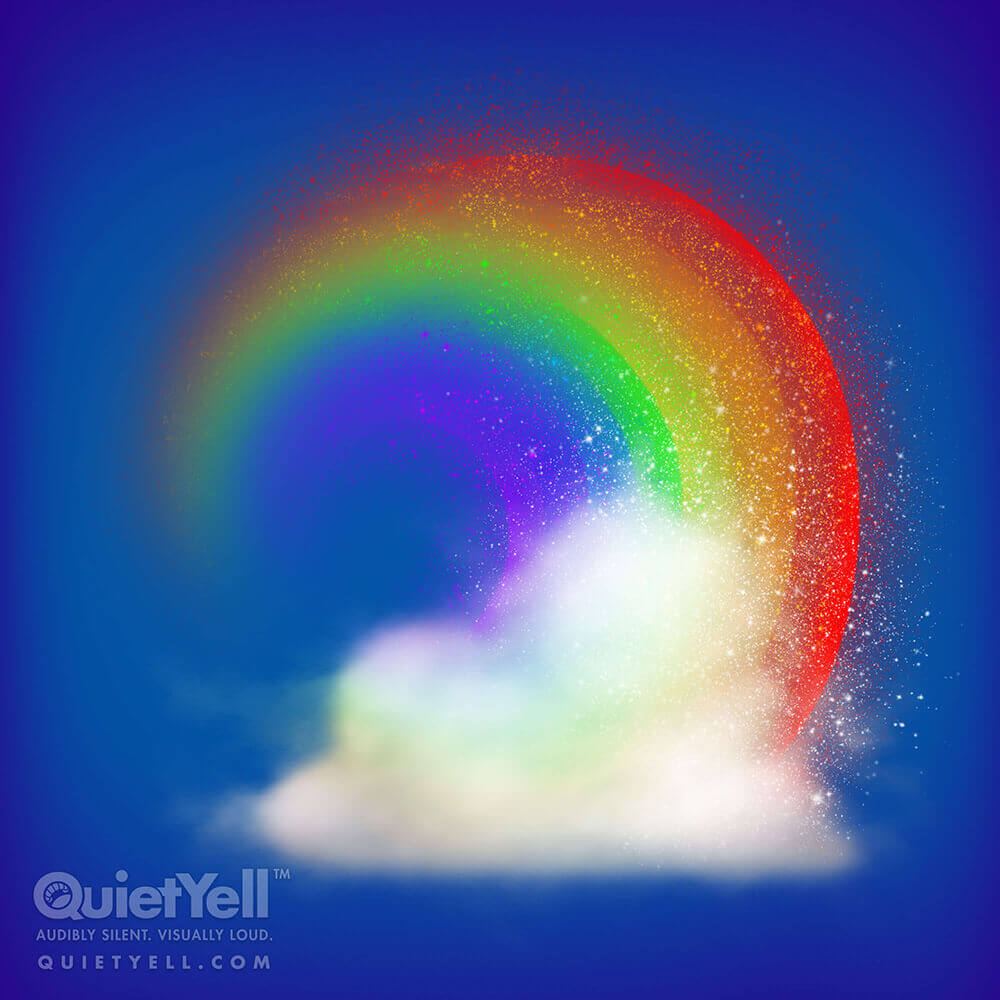 QuietYell Presents Scott Monaco's St. Patrick's Day (Rainbow Cloud) Game Assets For Cataboom, All Rights Reserved