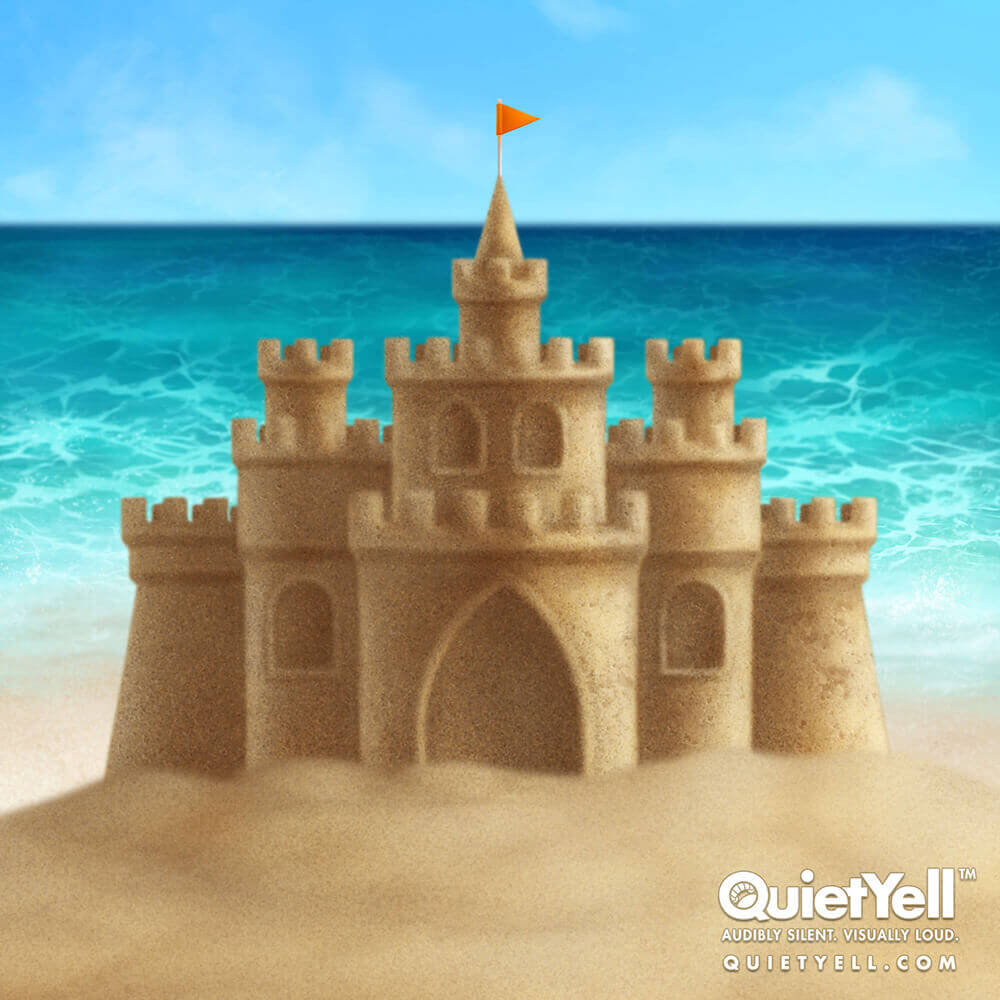 QuietYell Presents Scott Monaco's Tropical Summer (Sandcastle) Game Assets For Cataboom, All Rights Reserved | QuietYell.com and CataBoom.com