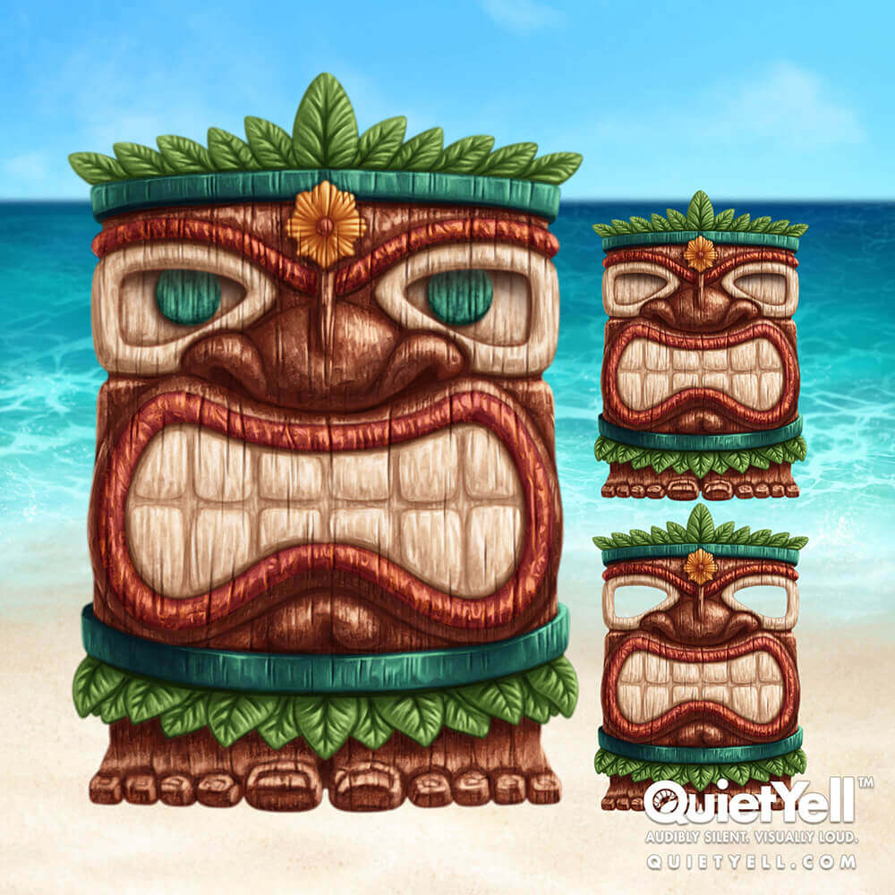 QuietYell Presents Scott Monaco's Tropical Summer (Wooden Tiki Man) Game Assets For Cataboom, All Rights Reserved | QuietYell.com and CataBoom.com