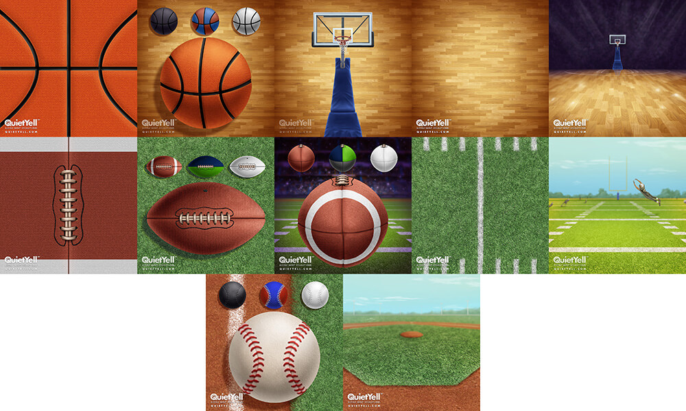 QuietYell Presents Scott Monaco's Sports (Basketball, Football, Baseball) Game Assets For Cataboom, All Rights Reserved | QuietYell.com and CataBoom.com