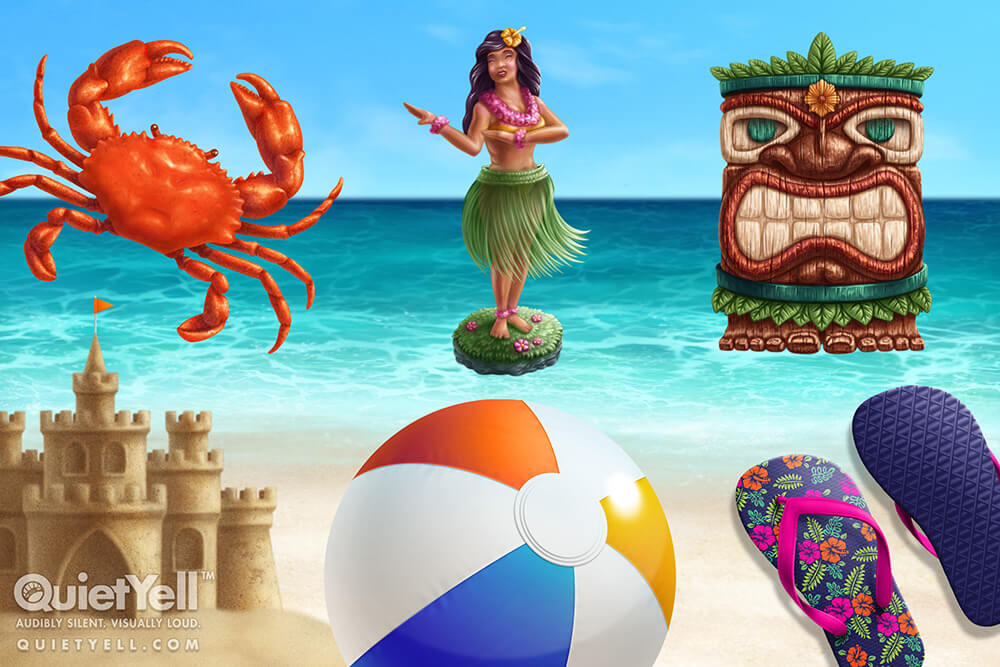 QuietYell Presents Scott Monaco's Tropical Summer Game Assets For Cataboom, All Rights Reserved | QuietYell.com and CataBoom.com