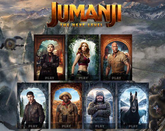Jumanji/Cinemark Promotional Games