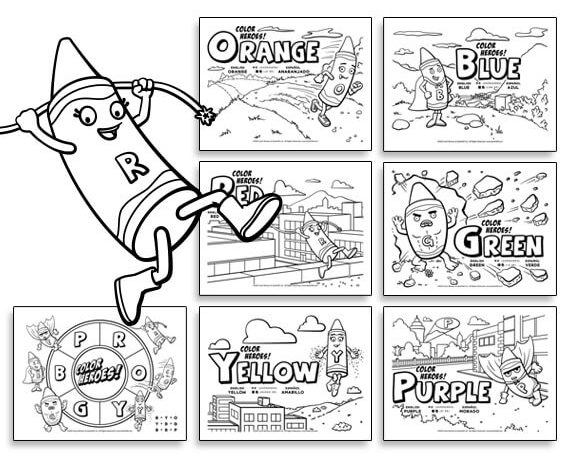 Activity Sheet Downloads – Color Heroes
