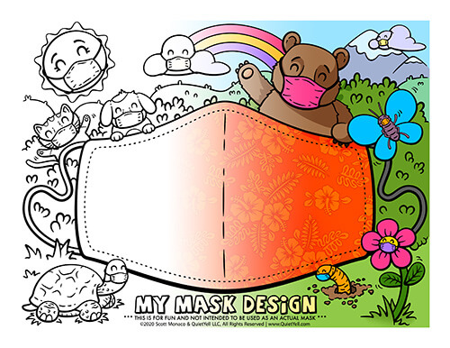 Coloring Activity Sheets Sample by Scott Monaco of QuietYell™ | www.QuietYell.com