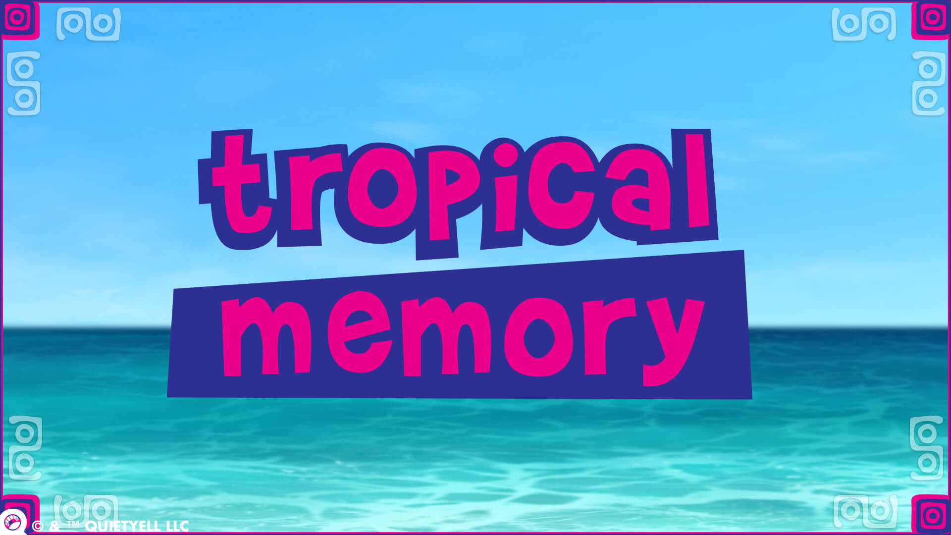 Tropical Memory Promotional Game Logo by Scott Monaco of QuietYell™ | www.QuietYell.com