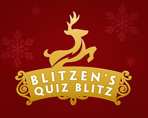 Blitzen's Quiz Blitz Promotional Game Logo