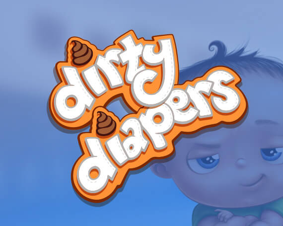 Dirty Diapers Goliath Games Branding