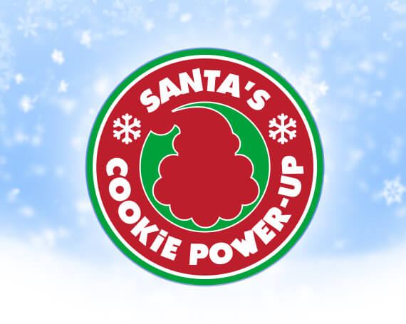 Santa's Cookie Power-Up Promotional Game Logo