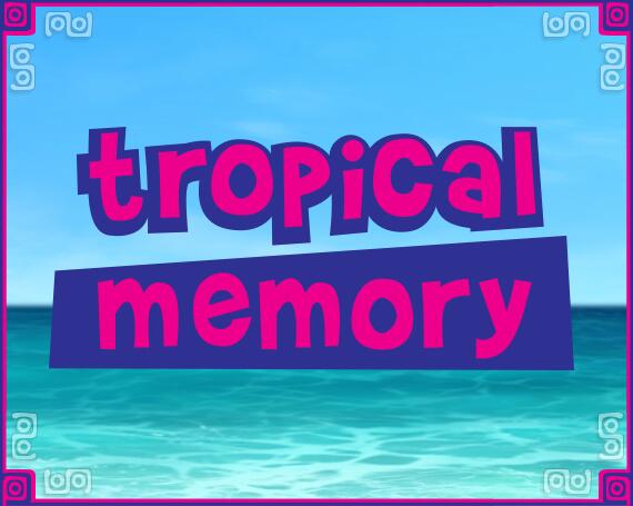 Tropical Memory Promotional Game Logo